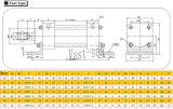 널리 이용되는 군중 두 배 임시 동점 로드 유압 기름 실린더
