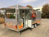 Sneeuwbrij die de StandaardBestelwagen van de Keuken van de Caravan van de Karren van de Verkoop van de Straat van de Rookwolk van het Graan van het Roomijs Franch reizen