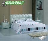 S106 König Size Leather Bed für Wohnungs-Schlafzimmer
