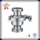 Presión de acero inoxidable higiénico primavera no retorno roscado con válvula de retención de drenaje