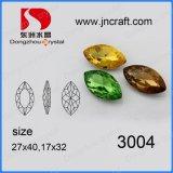 Monili di pietra di cristallo operati allentati naturali e multi della Cina di formato del Punto-Indietro K9 Navette con la branca del metallo per l'indumento