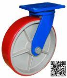 12 Zoll Extrahochleistungs-PU auf Eisen-Schwenker-Fußrollen-Rad