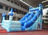 Glissière d'eau gonflable de château gelé