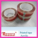 Het Transparante Embleem BOPP van de druk en Band van de Verpakking van de Kleur de Zelfklevende