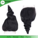 Легко домашний Реми индийского волосы кусочки кружева закрытия