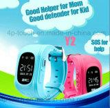 Affichage de la date/heure Kids Safety GPS tracker montre avec bouton SOS Y2