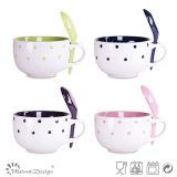 Stoneware di ceramica Cheap Soup Mug con Spoon