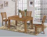 Vector de cena del viejo estilo de madera sólida con la cena de sillas