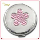 金属の小道具が付いているパリの記念品のギフトPUの円形の装飾的なミラー