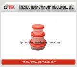 Muffa sottile della parete di plastica del recipiente della muffa rotonda rossa del corpo