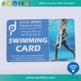 Slimme Kaart van het Lidmaatschap RFID van pvc van de Prijs van de fabriek de Zwemmende