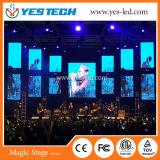 Parete dello schermo di visualizzazione del LED della fase di alta qualità P3/P4