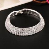 여자 다이아몬드 팔찌 순수한 색깔 가득 차있는 다이아몬드 사슬 10 색깔을%s 여자 형식 보석 형식 팔찌