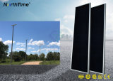 Integrado de 100W Lámpara Solar Power Panel exterior de la luz de la Calle Jardín