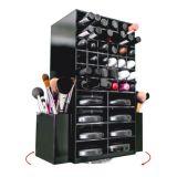 Organizador de maquiagem de batom acrílico rotativo, Gabinete de exibição de batom acrílico