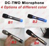 コンサートの使用DC2 UHFの二重手持ち型のコードレスか無線マイクロフォン