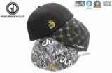 Moda plana hiphop Snapback Cap con bordado 3D y patrón de impresión