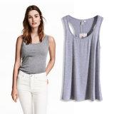 Van de Katoenen van de Vrouwen van Wholesales het Hoge Modieuze Vest T-shirts van de Polyester voor de Zomer