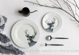 Échantillon ronde Elk des ménages 2 Jeu de pièces de vaisselle
