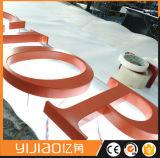 Letra acrílica do sinal do diodo emissor de luz do Lit traseiro de Yijiao