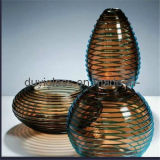 Home Decoration를 위한 다색 Blown Glass Craft Vase
