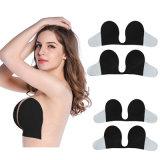 Deep V Sutiã push-up tecido Design Nude Sutiã de Silicone