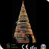 LEIDEN van de Vorm van de Kerstboom van de Decoratie van de vakantie Hoge Licht