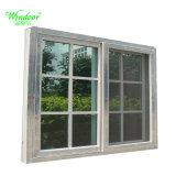 Опускное стекло в белый цвет окна из ПВХ с двойным стеклом