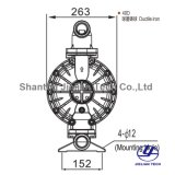 Bml-40d BSPT 연성이 있는 철 세라믹 기업을%s 물자 격막 펌프