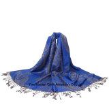 熱い販売マルチカラー方法ジャカードスカーフのショール