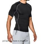 Dessus à extrémité élevé d'usure de forme physique de T-shirt fait sur commande d'hommes