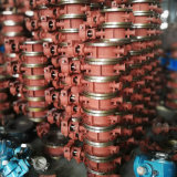 무쇠 4 인치 6 인치 연약한 물개 웨이퍼 유형 압축 공기를 넣은 액추에이터 나비 벨브