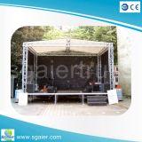 照明および音声のための屋外段階のトラスシステム