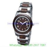 人Ja- 15055のための最上質のステンレス鋼そしてQuoartzの木の腕時計
