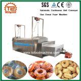 De automatische Ononderbroken Machine van de Braadpan van de Doughnut van het Gas van de Transportband van de Riem