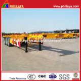 세 배 Axle 40ft Container Transport Gooseneck Skeleton Semi Trailer