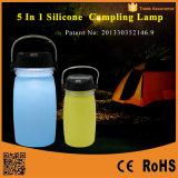 휴대용 태양 강화된 접히는 LED 야영 손전등