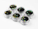 A arte de unhas pedras coloridas
