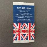Alta definición personalizada Etiquetas ropa etiquetas tejidas