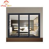 Un interior moderno mate aluminio/aluminio puerta corrediza de vidrio