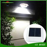 4LED屋外ランプPIRの動きセンサーの太陽動力を与えられた塀ライト