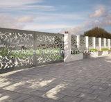 Découpe laser décoratif en tôle perforée de clôture de jardin