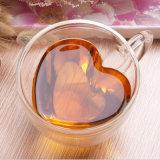 180ml &240ml Heart-Shaped cuvette en verre avec poignée pour le thé café Bouteille