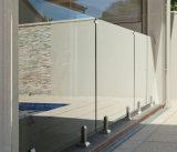 現代家の塀デザインステンレス鋼の栓のガラス柵