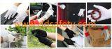 Ddsafety 2017 100% algodão preto luvas de poliéster com 3 estrias na parte traseira