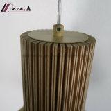 De madeira e lâmpada do pendente do aço 201 inoxidável para a sala de jantar