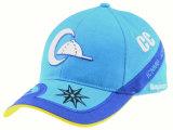 連続した帽子帽子を競争させる青い3D Embroidryの綿の野球帽