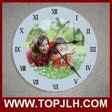Sublimación de cristal del reloj de pared de la decoración casera de la promoción de la Navidad
