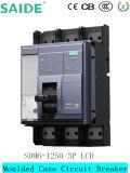 schermo dell'affissione a cristalli liquidi dell'interruttore MCCB di caso modellato 3p 1250A