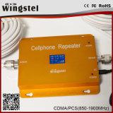 2017 ripetitore mobile a due bande intelligente pieno del segnale dell'affissione a cristalli liquidi 850/1900MHz 2g 3G